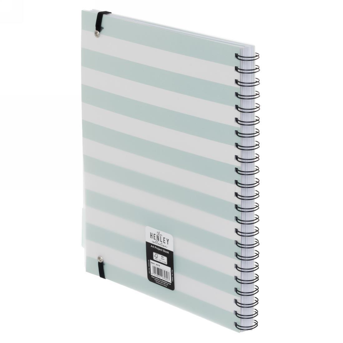 WHSmith Henley Blue Dot Wiro Bound A4 Notebook Wiro Bound Side Binding