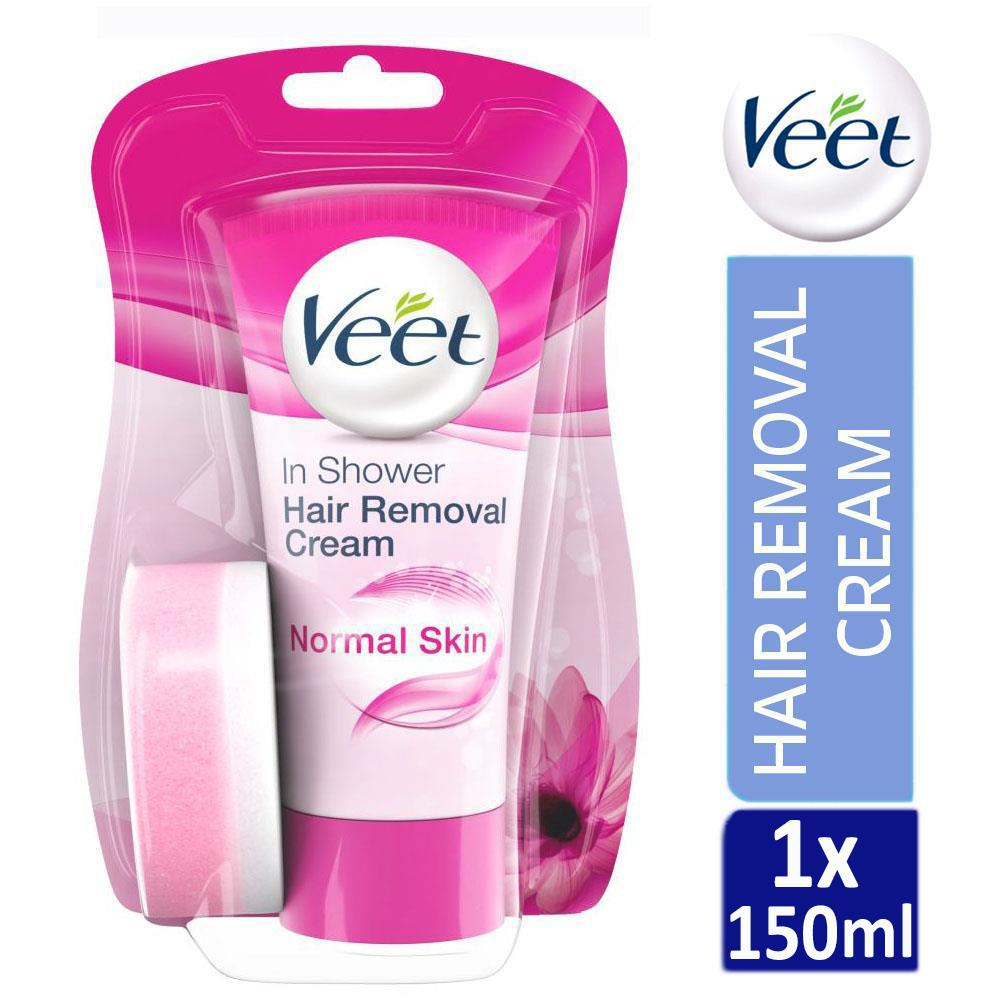 Veet In Shower Hair Removal Cream 150ml For Normal Skin Lotus Milk