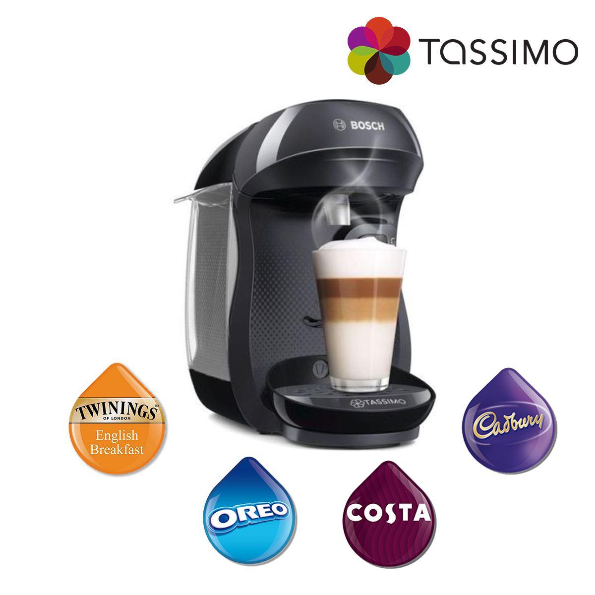 Details About Tassimo Tas1002gb Happy Costa Coffee Hot Drinks Coffee Machine 1400w 07l Bosch