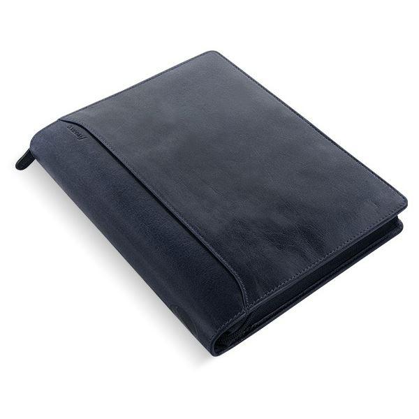 Filofax Lockwood Personal Organizer Navy Blue Deluxe Full Grain Buffalo Leather