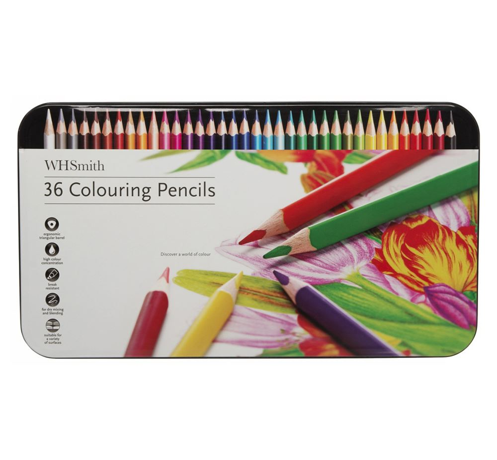 Whsmith Artist S Colouring Pencils Pack Of 36 For Dry Mixing And