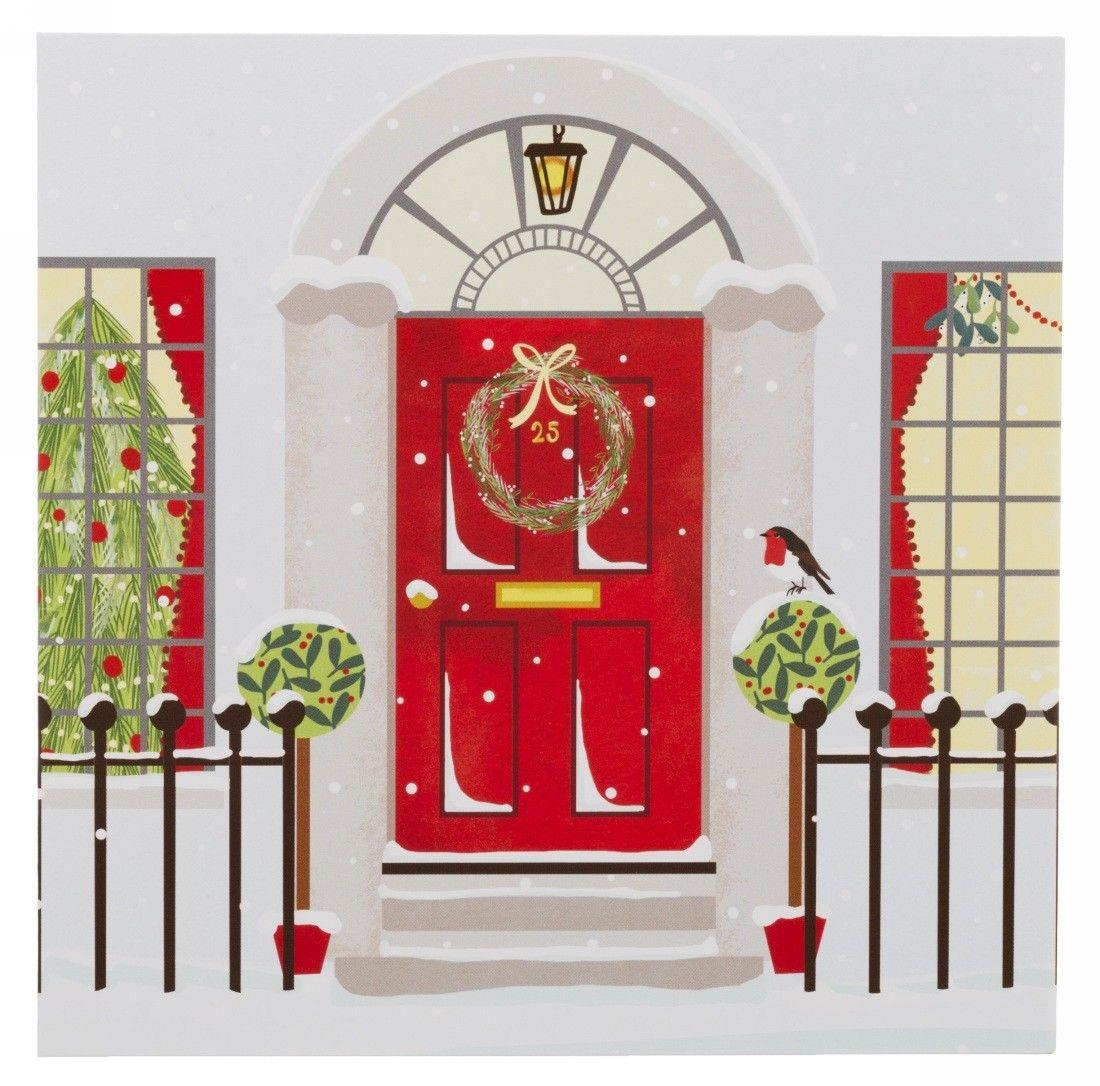 WHSmith Premium Robin On A Post Box In 2 Designs Christmas Cards Pack of 12