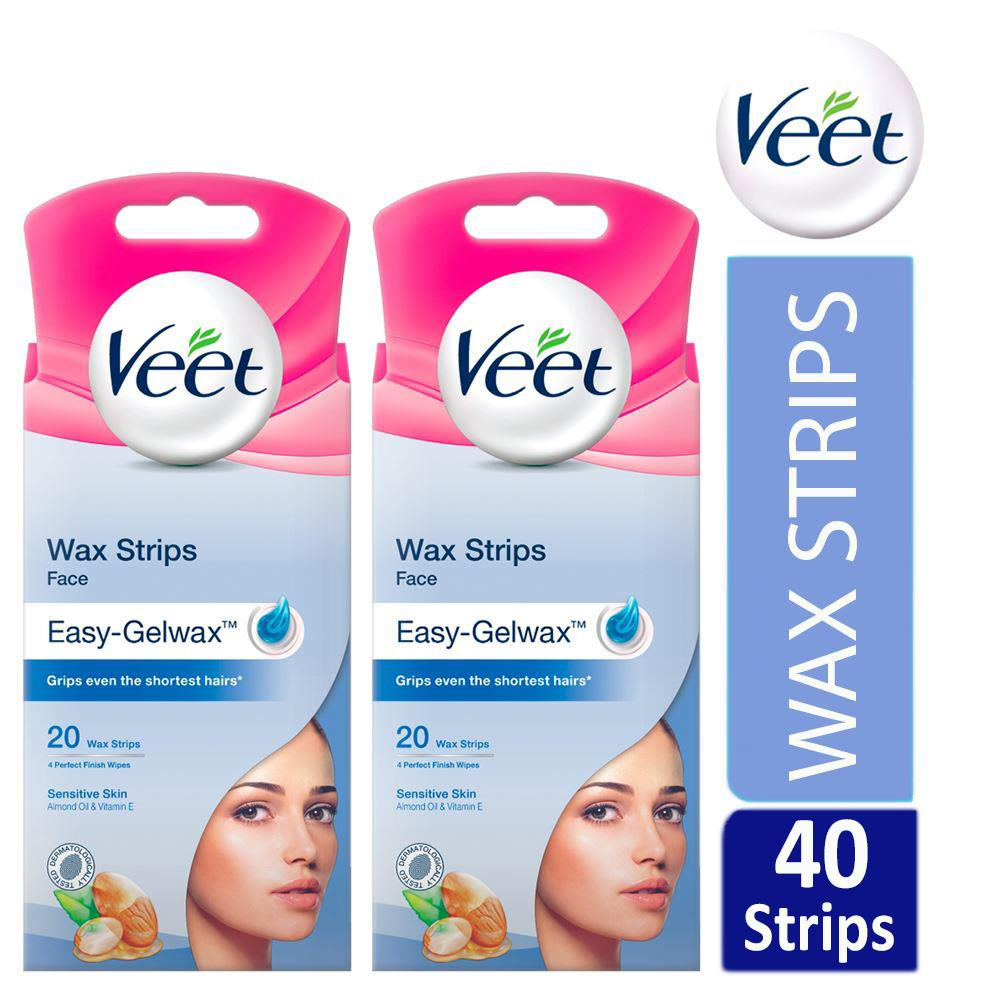 Veet Face Easy Gelwax Hair Removal Wax Strips For Sensitive Skin