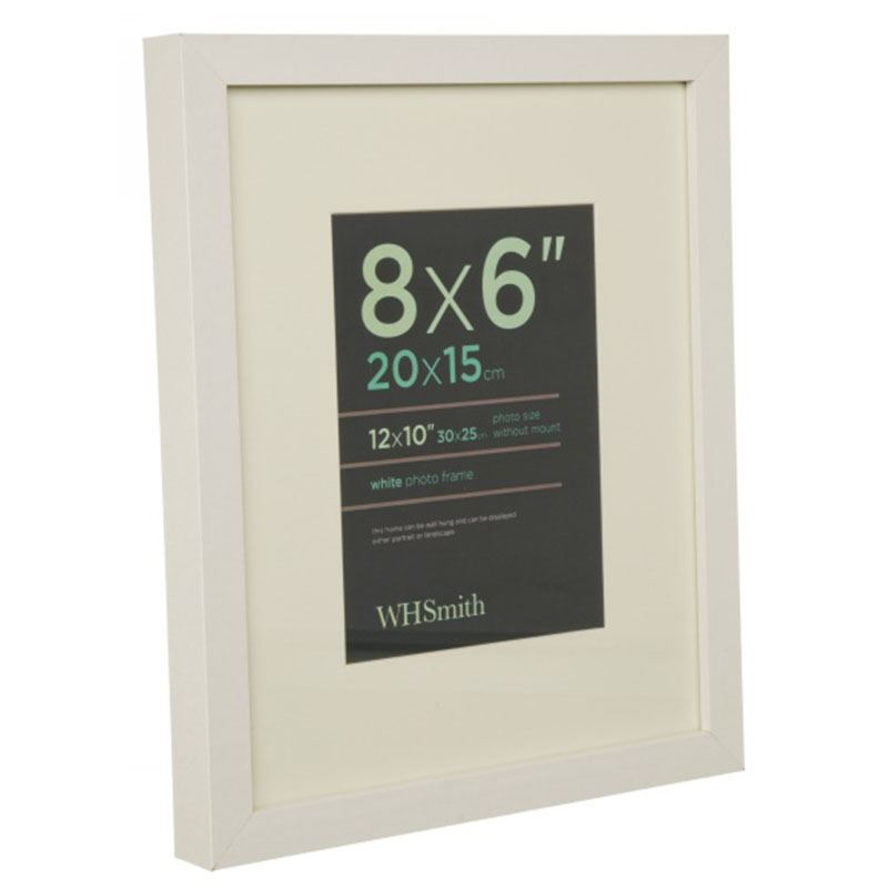 Whsmith White Wooden Box Picture Frame Clip Photo Frame Size 20 X