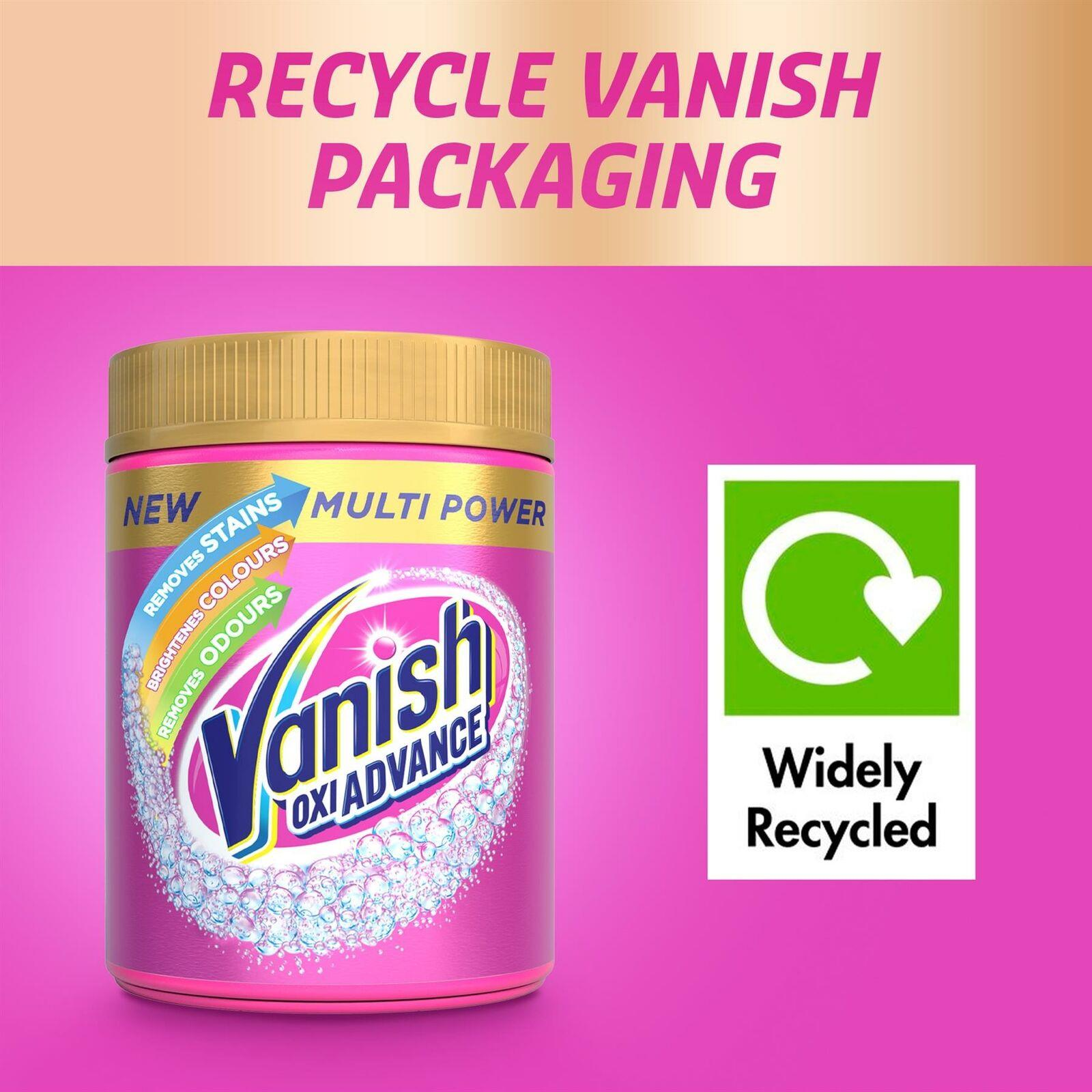 2 x Vanish Oxi Advance Laundry Booster Stain Remover Powder 1.5kg Chlorine-Free