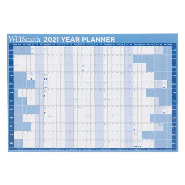 WHSmith 2021 A4 Year To View Calendar Planner With ...