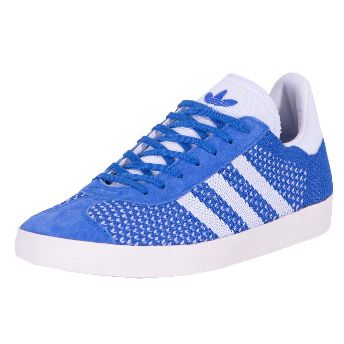 ac609ae4707c Details about adidas Originals Gazelle Primeknit Mens Trainers Blue White  BB5246 Size 5-11UK