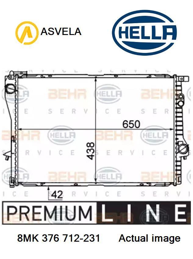motor refrigeración Hella 8mk 376 712-231 Radiador