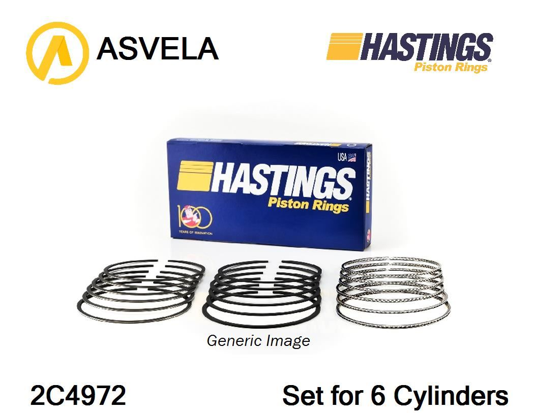 Piston Ring Set for ACURA,HONDA MDX,YD1,J35A3,J35A5 Hastings 2C4972.  Technical Data