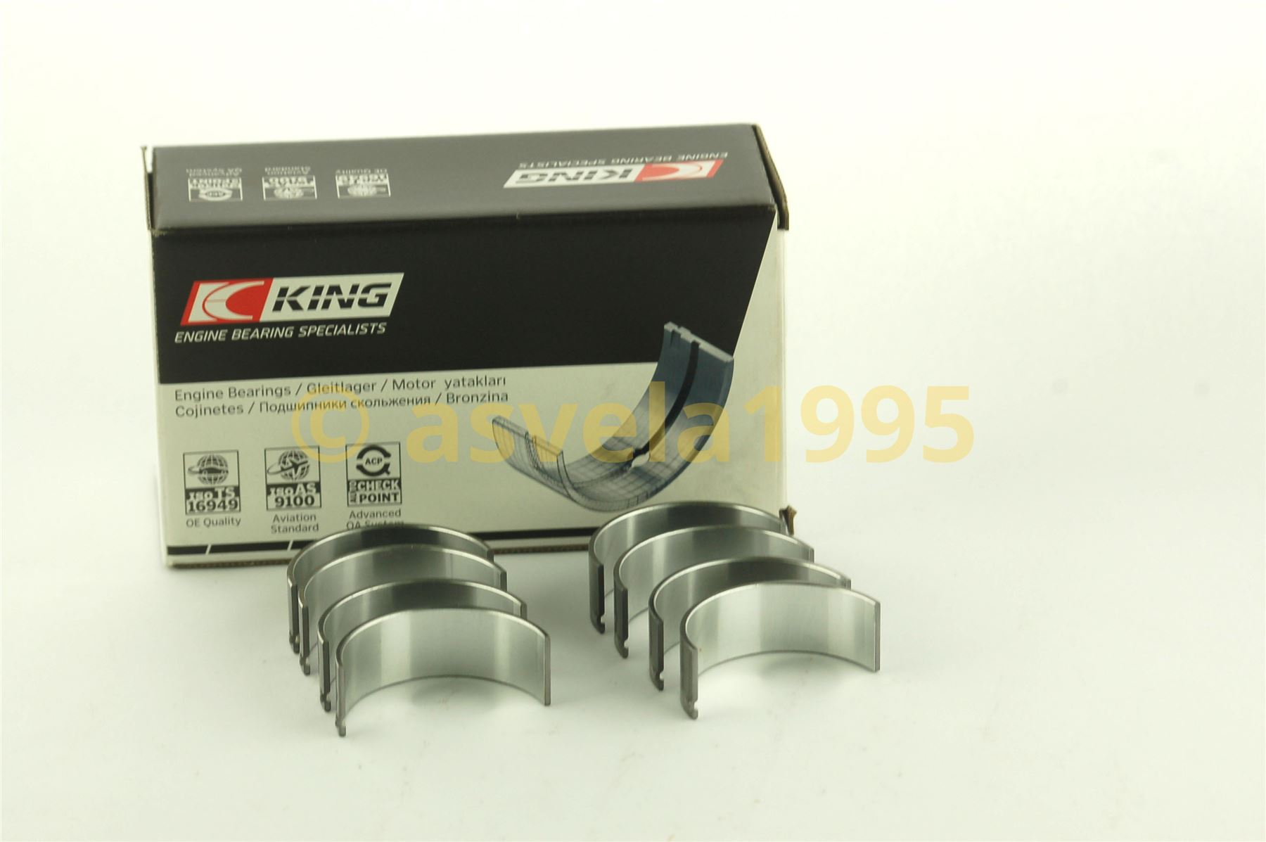 King Big End Con Rod Bearings CR1294CA 0.25 Oversize For VM 2.5-2.8 DIESEL