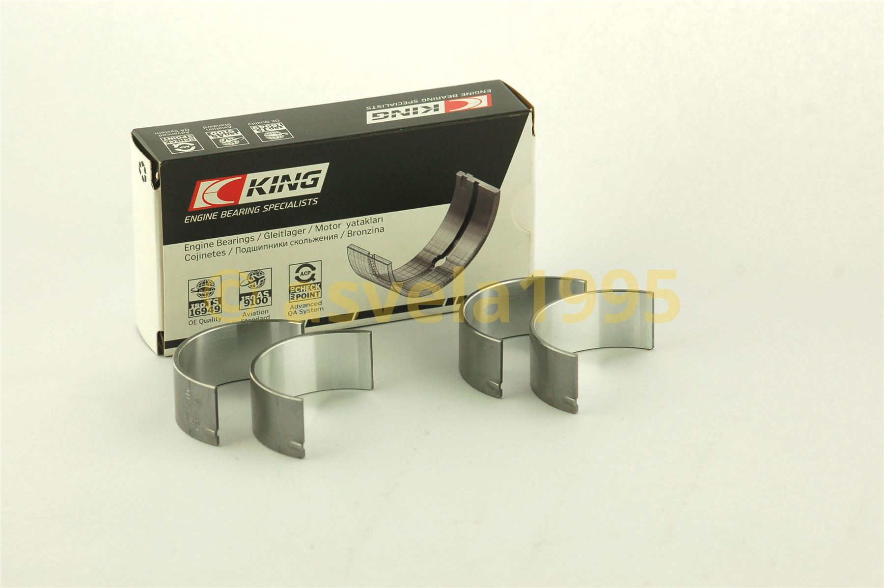 Engine Connecting Rod Bearing Set KING BEARING CR8050SV0.5