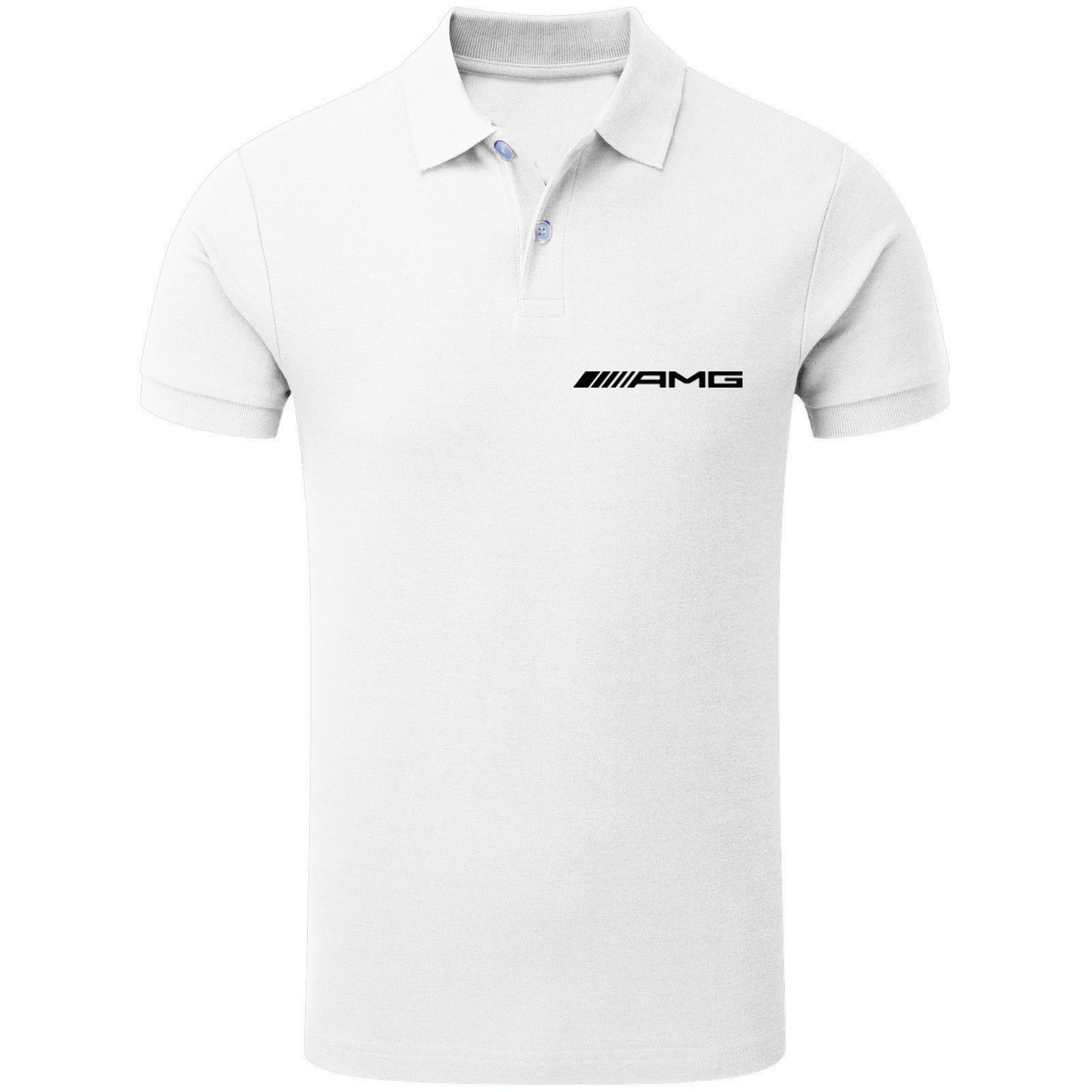 mens mercedes benz amg polo neck race day competition t shirt top s xxl ebay. Black Bedroom Furniture Sets. Home Design Ideas