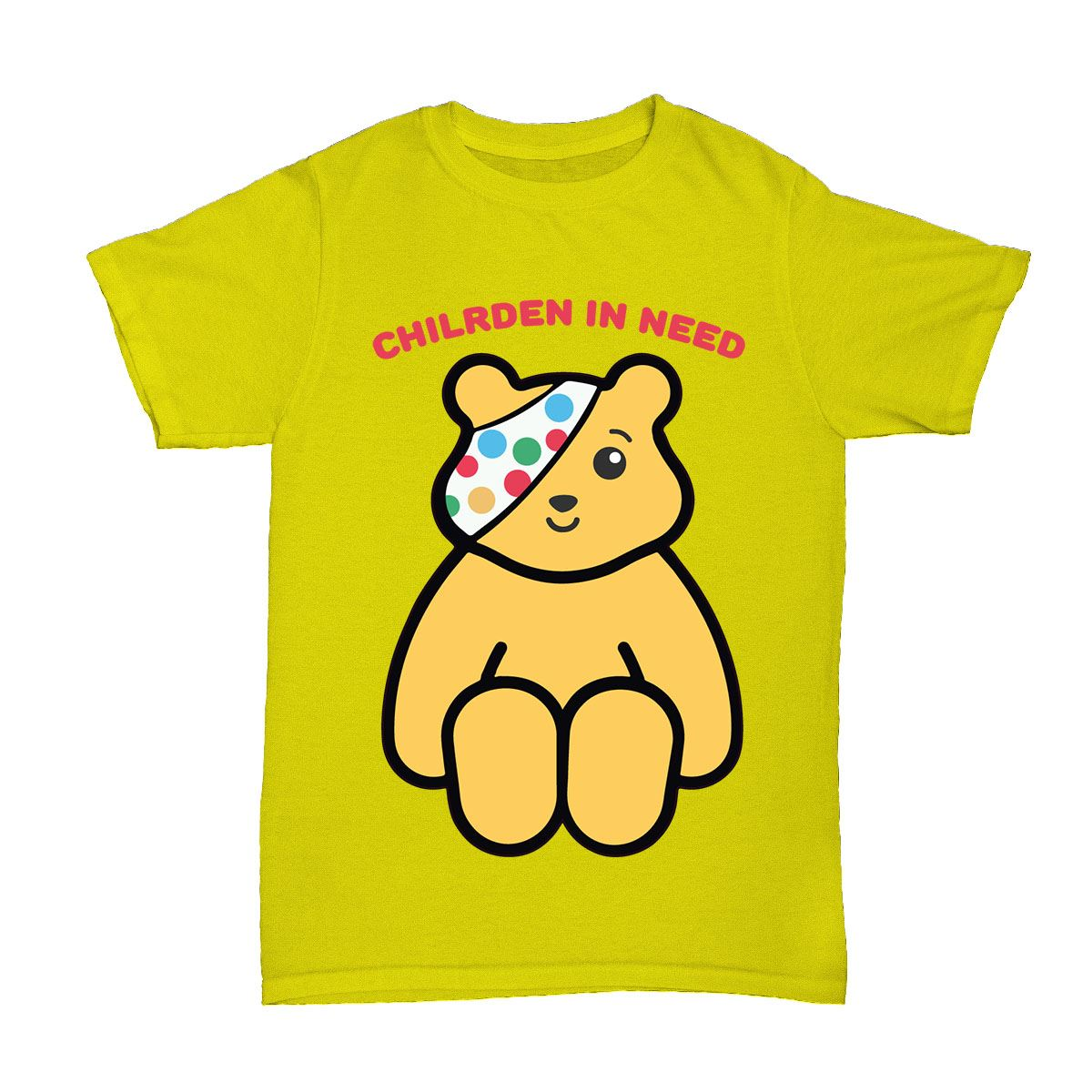 Kids boys girls children in need pandora school pudsey for Sell t shirts for charity