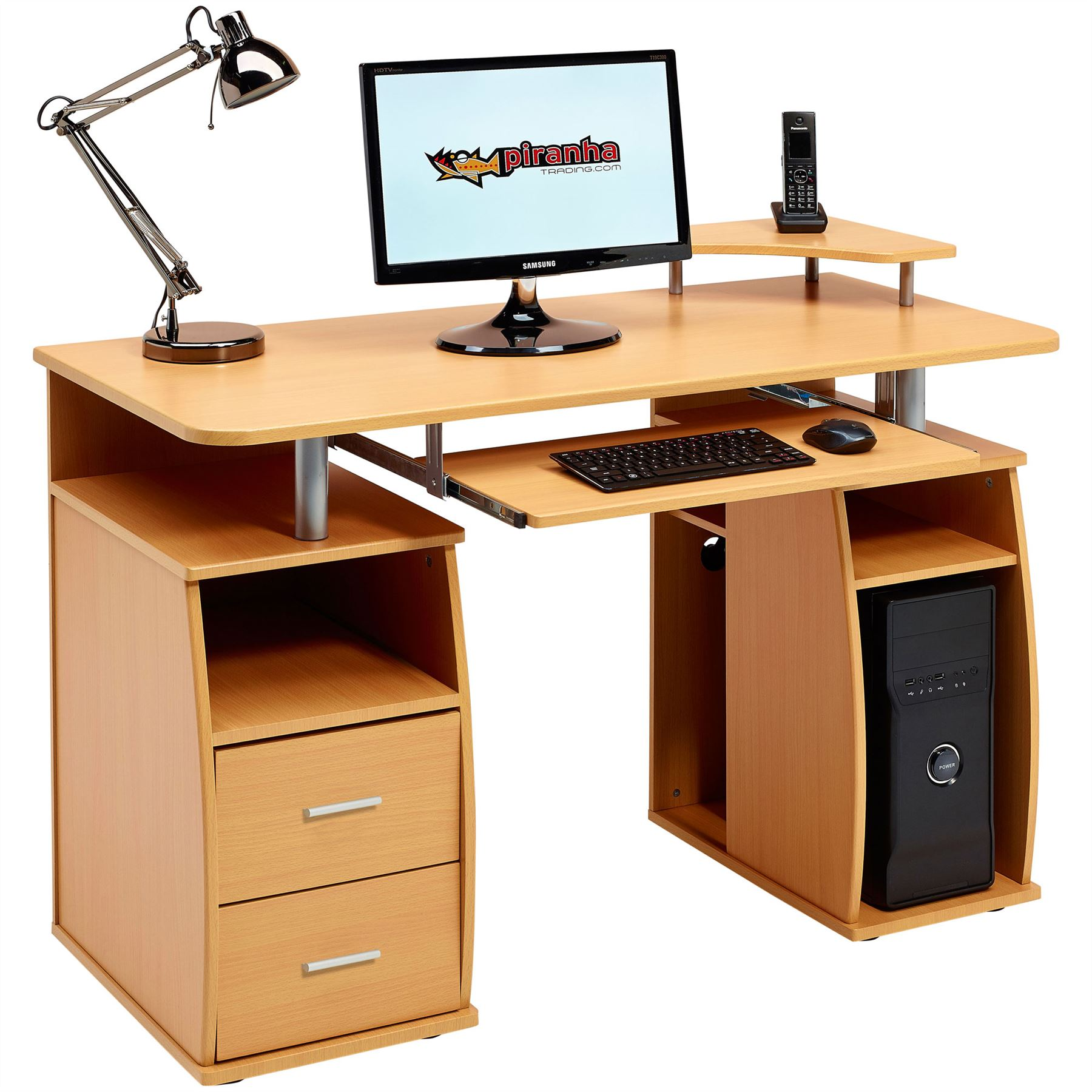 puter desk with shelves cupboard  drawers for home