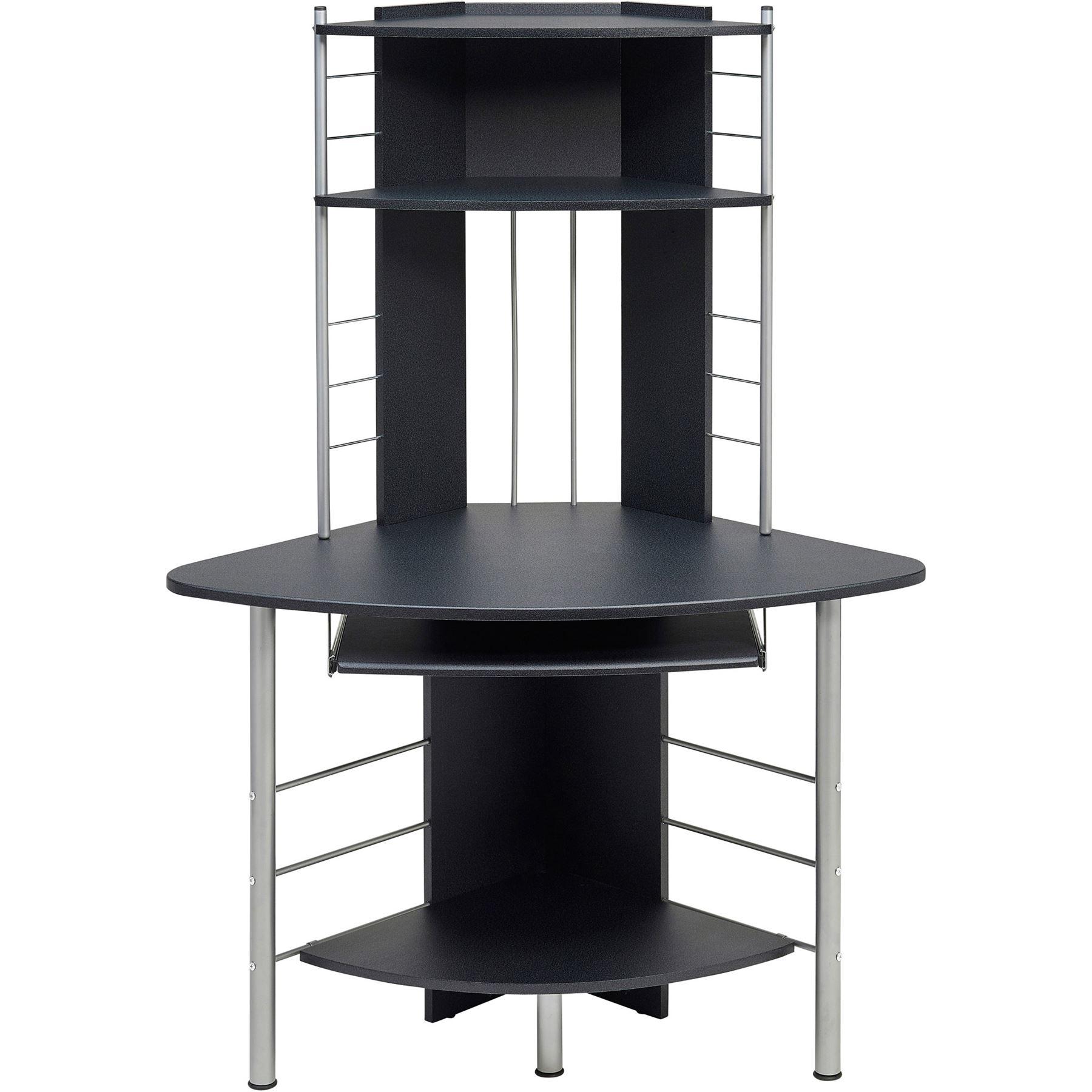 corner computer desk with shelves storage office furniture piranha oscar pc 8g ebay. Black Bedroom Furniture Sets. Home Design Ideas