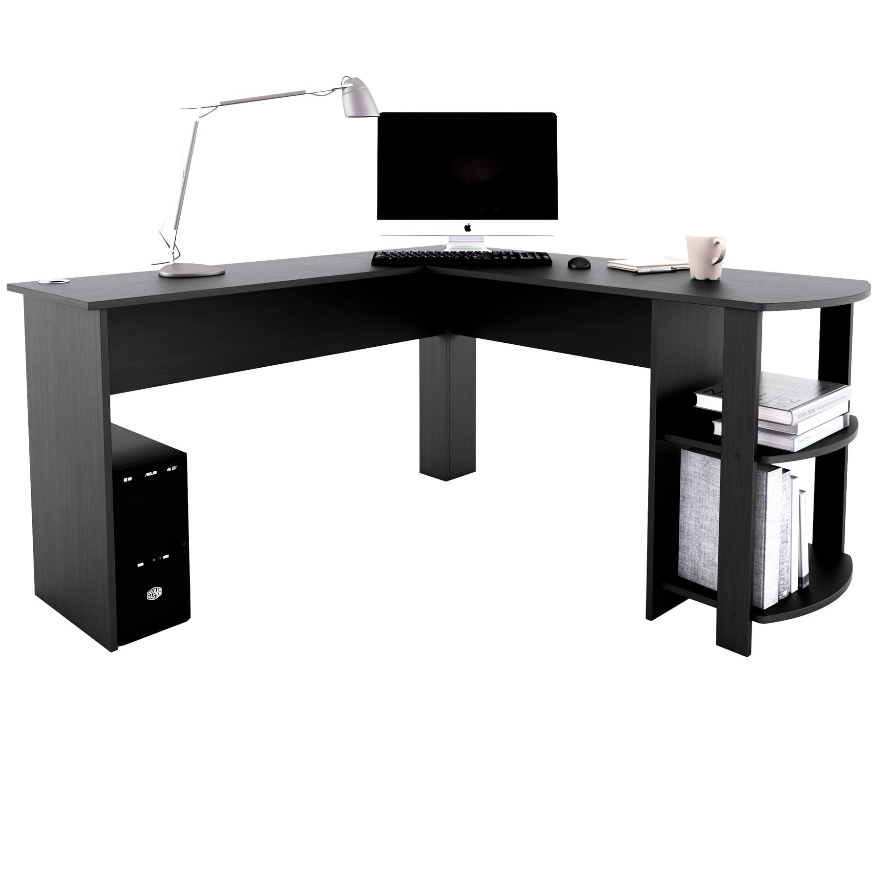 Large Corner Desk With Shelves For Home Office Piranha Furniture Pacu Ebay