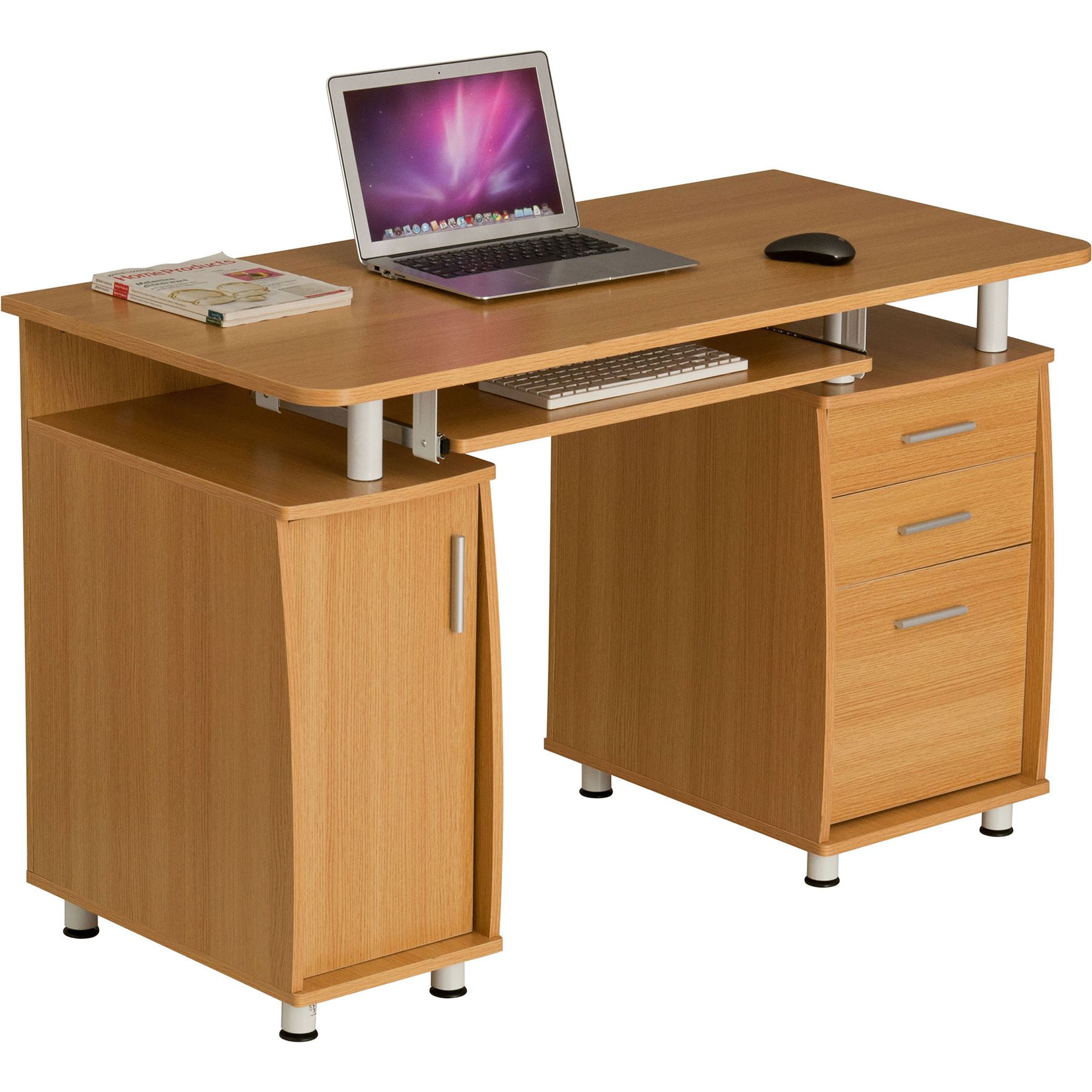 Computer Desk With Storage & A4 Filing Drawer Home Office