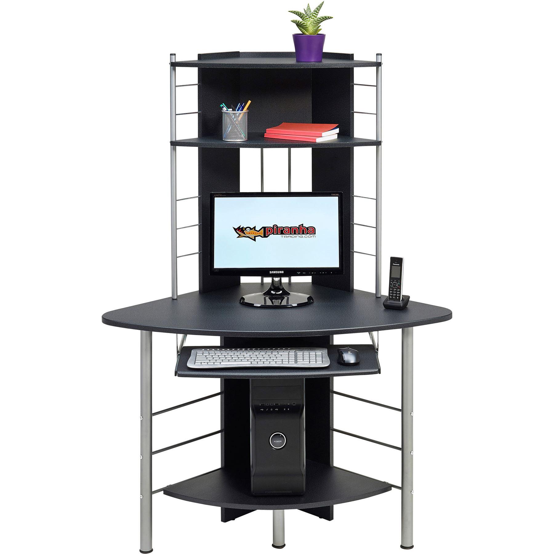 above living computer for shelf shelves desk room wall mounted