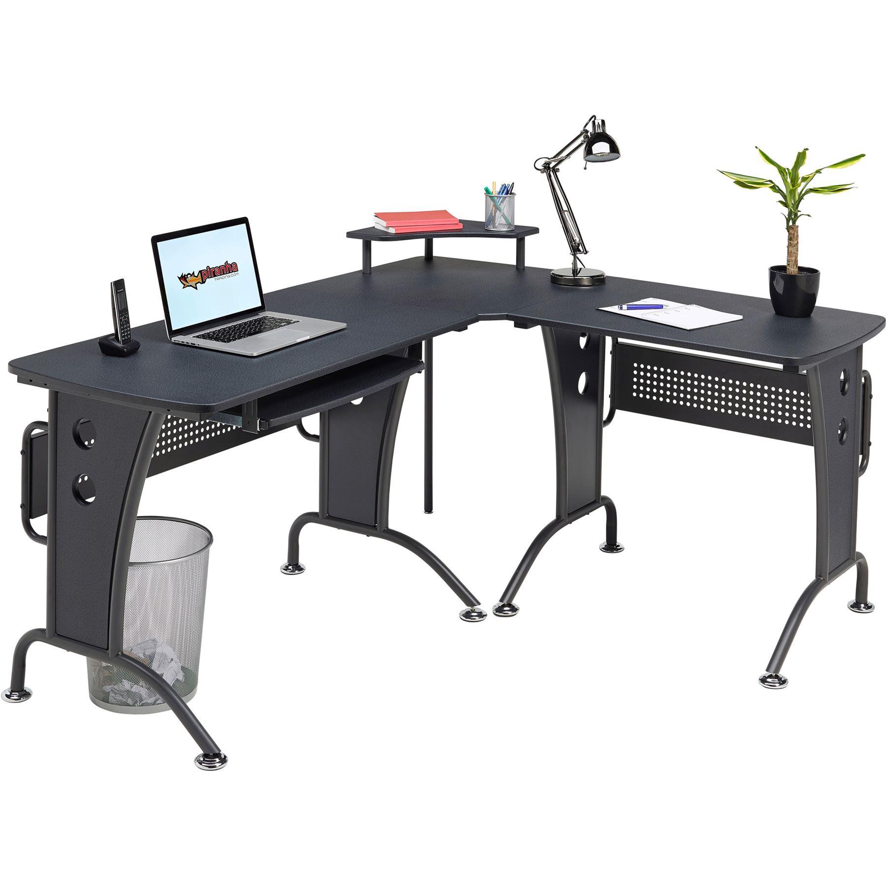 Large Corner Computer Desk With Keyboard Shelf Home Office