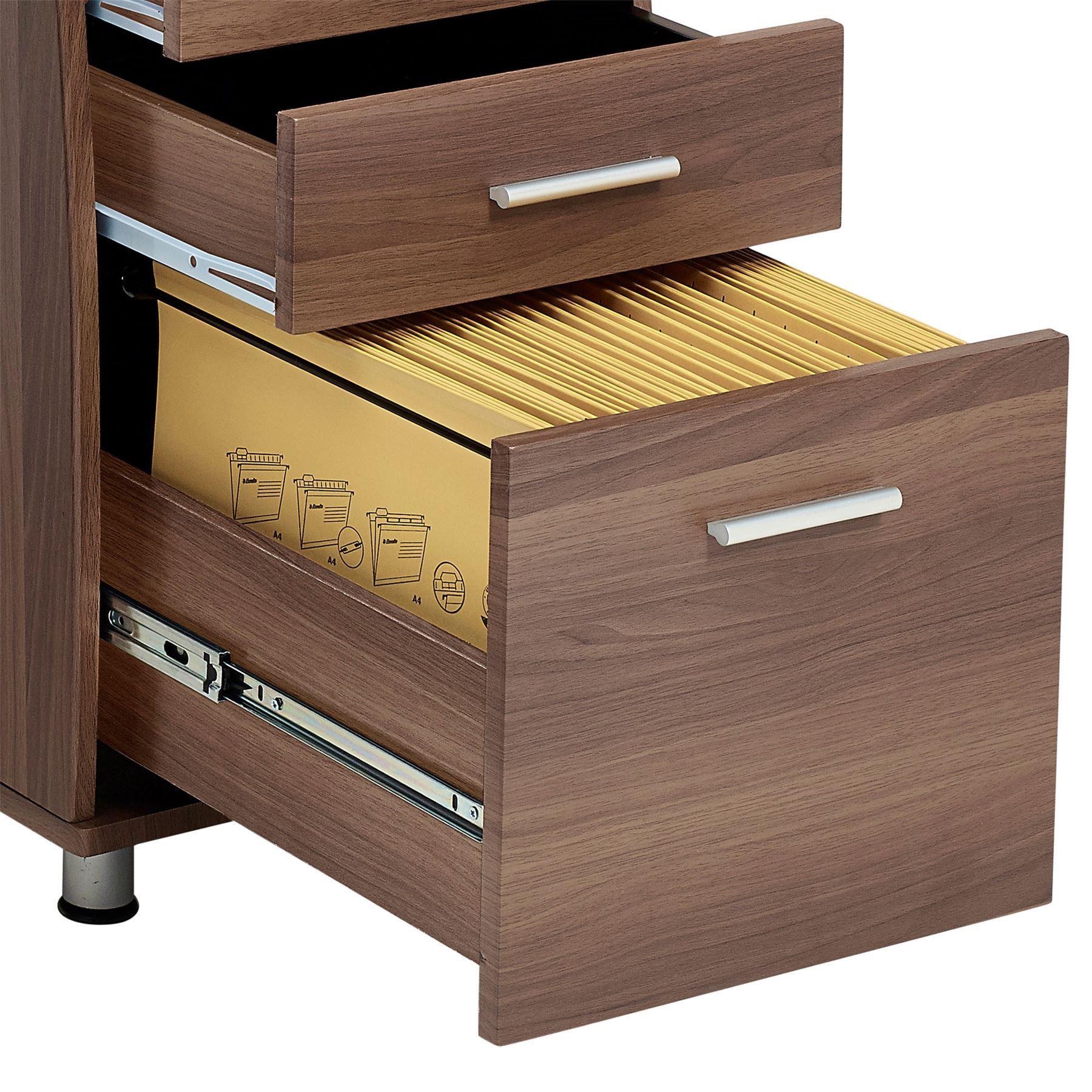 Large Corner Computer Desk A4 Filing Drawer for Home Office Piranha Regal PC 28w