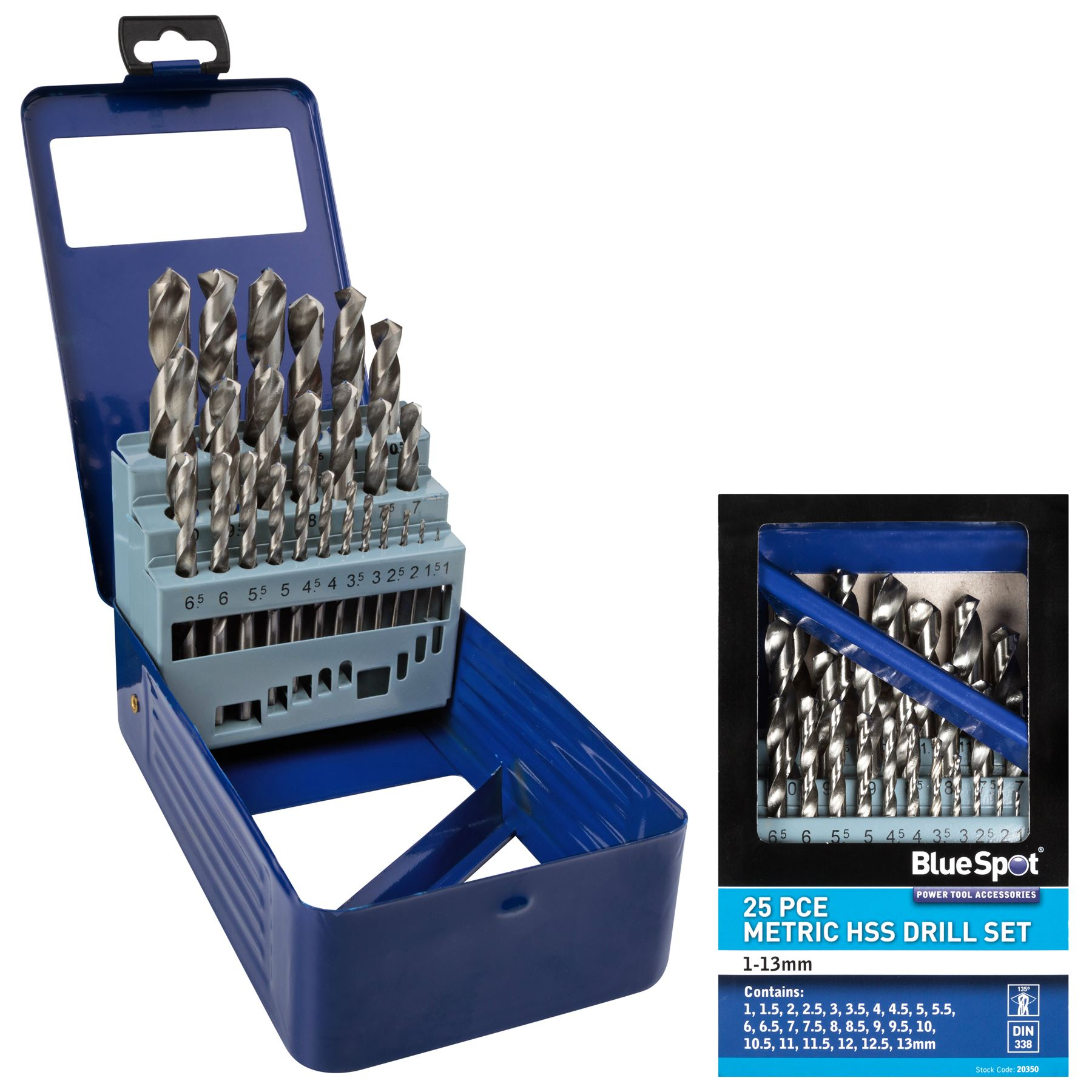 Metal HSS Metric Drill Bits set 10pc Packs 1 to 4.8mm for Steel /& Wood