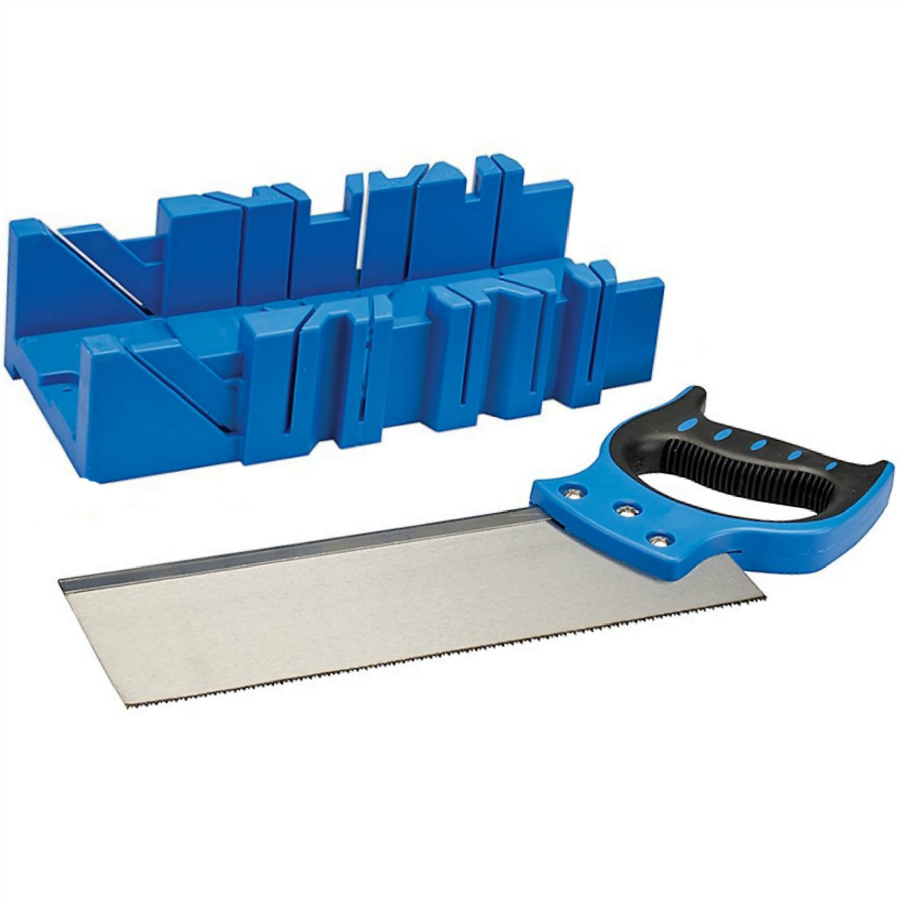 Silverline  300mm x 90mm Mitre Cutting Block Box  Tenon Saw  For Wood