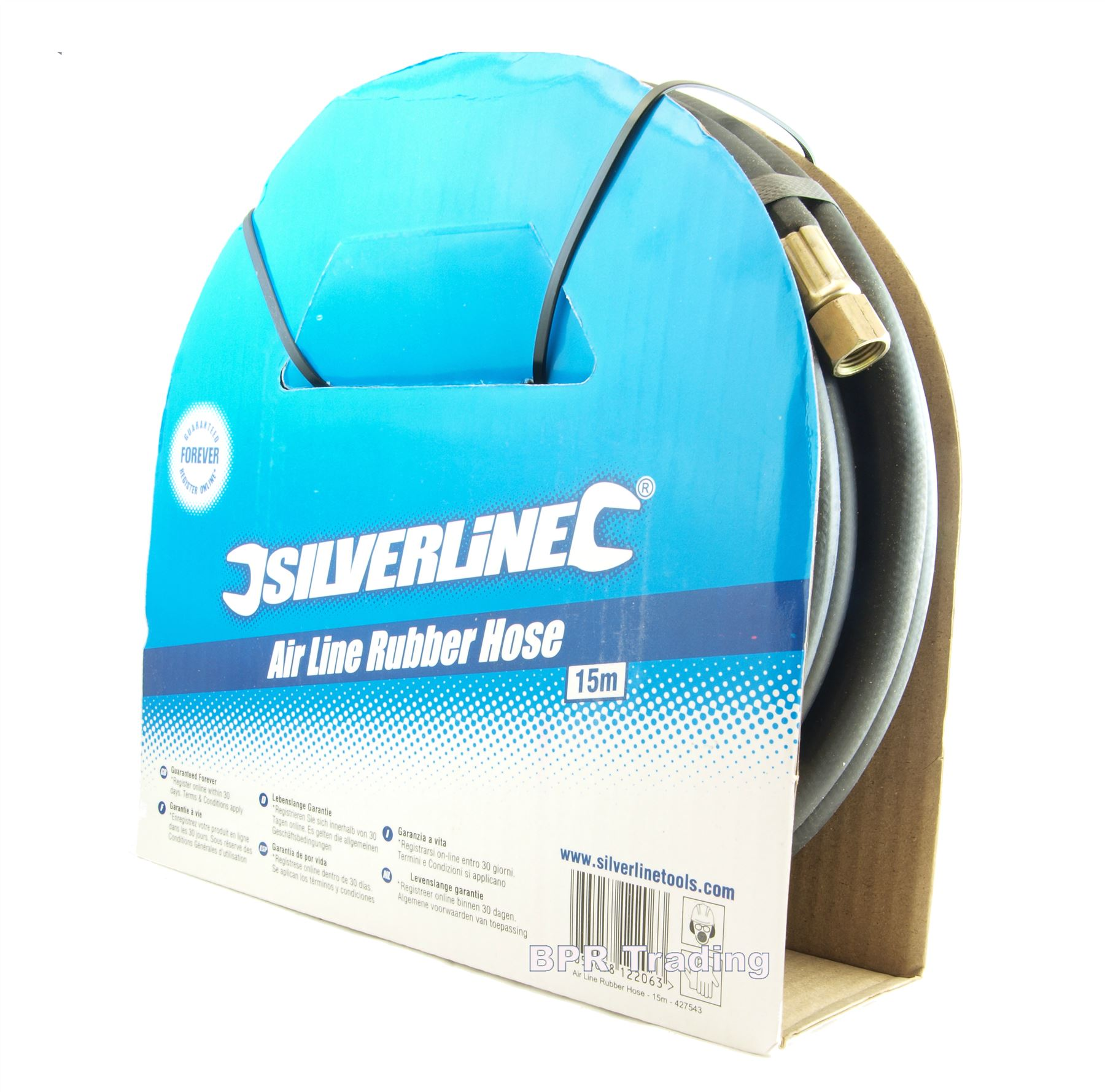 Silverline 633578 Air Line Rubber Hose 10m