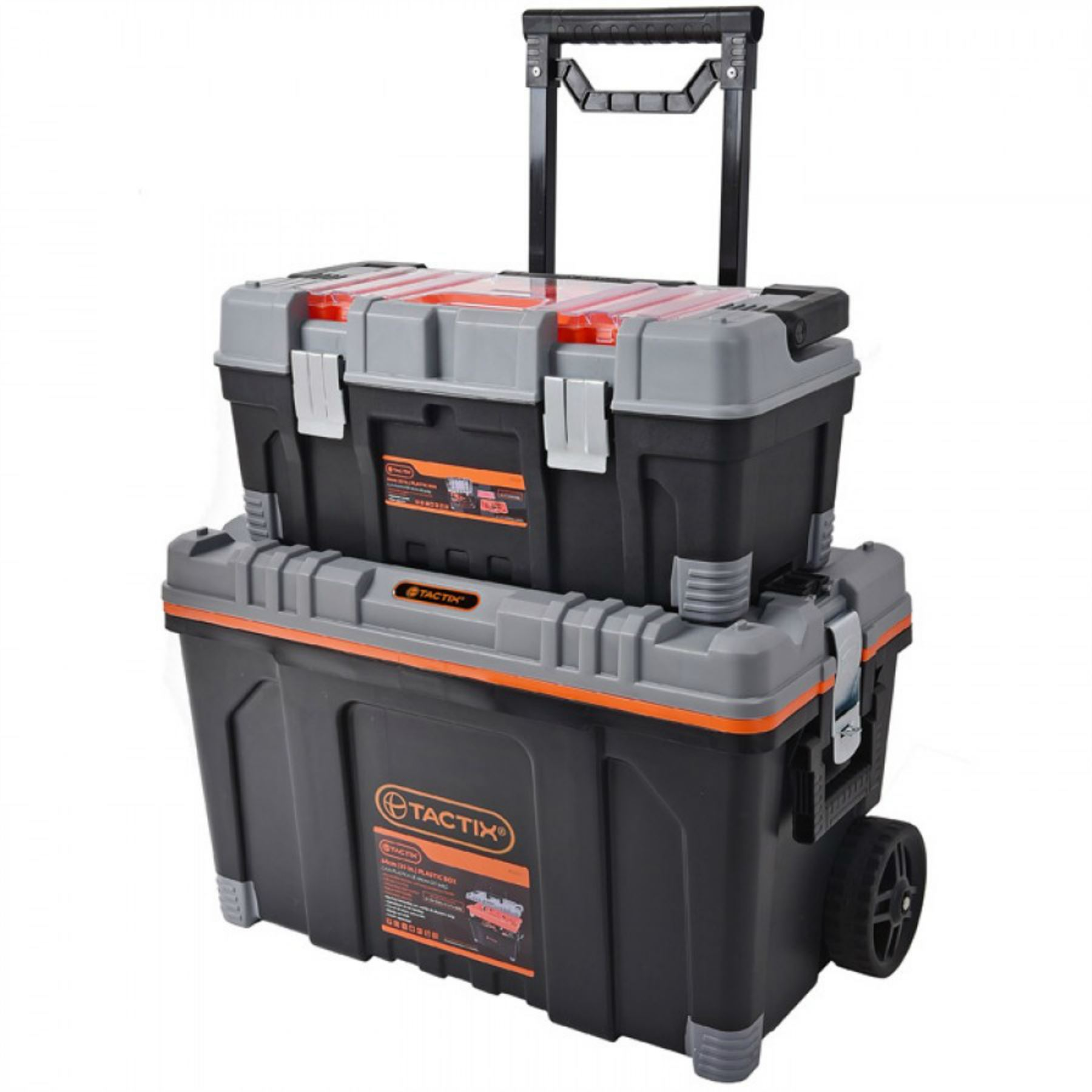 Tactix 2 In 1 Rolling Large Heavy Duty Mobile Tool Storage