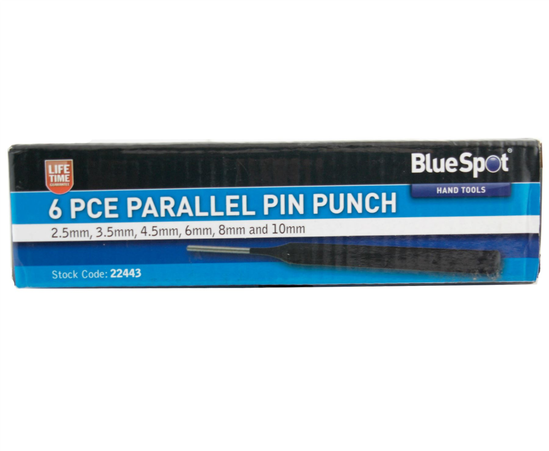 Blue Spot 6 Piece Parellel Pin Punch Set 2.5mm 10mm Lifetime Warranty 6pc
