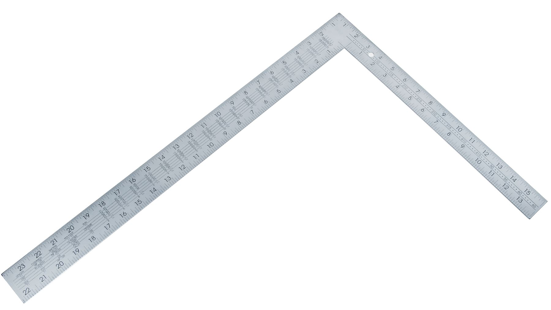 Bluespot Large Steel Roofing Square Framing Carpenter Measure
