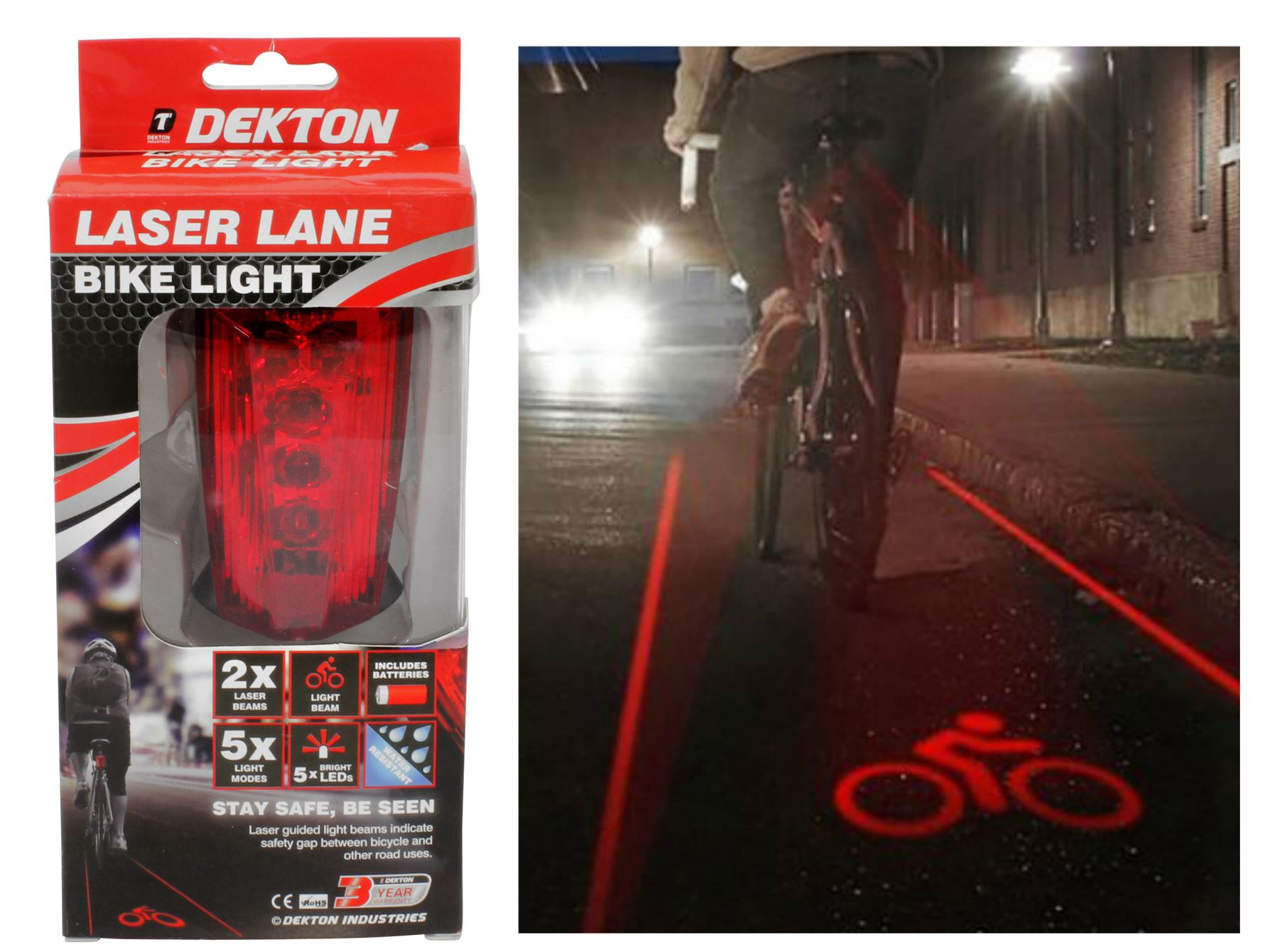 Silver Skull Blue 2 LED 7 Modes Lamp Cycling Bike Bicycle Laser Rear Tail Light