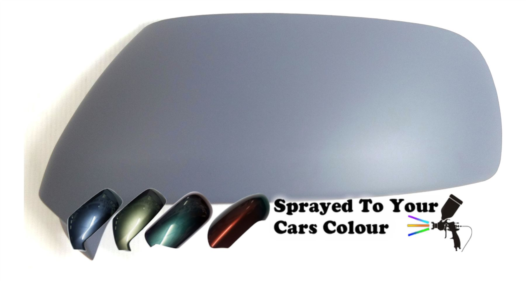 Citroen C3 Picasso 2009-4//2018 Primed Wing Mirror Cover Driver Side O//S