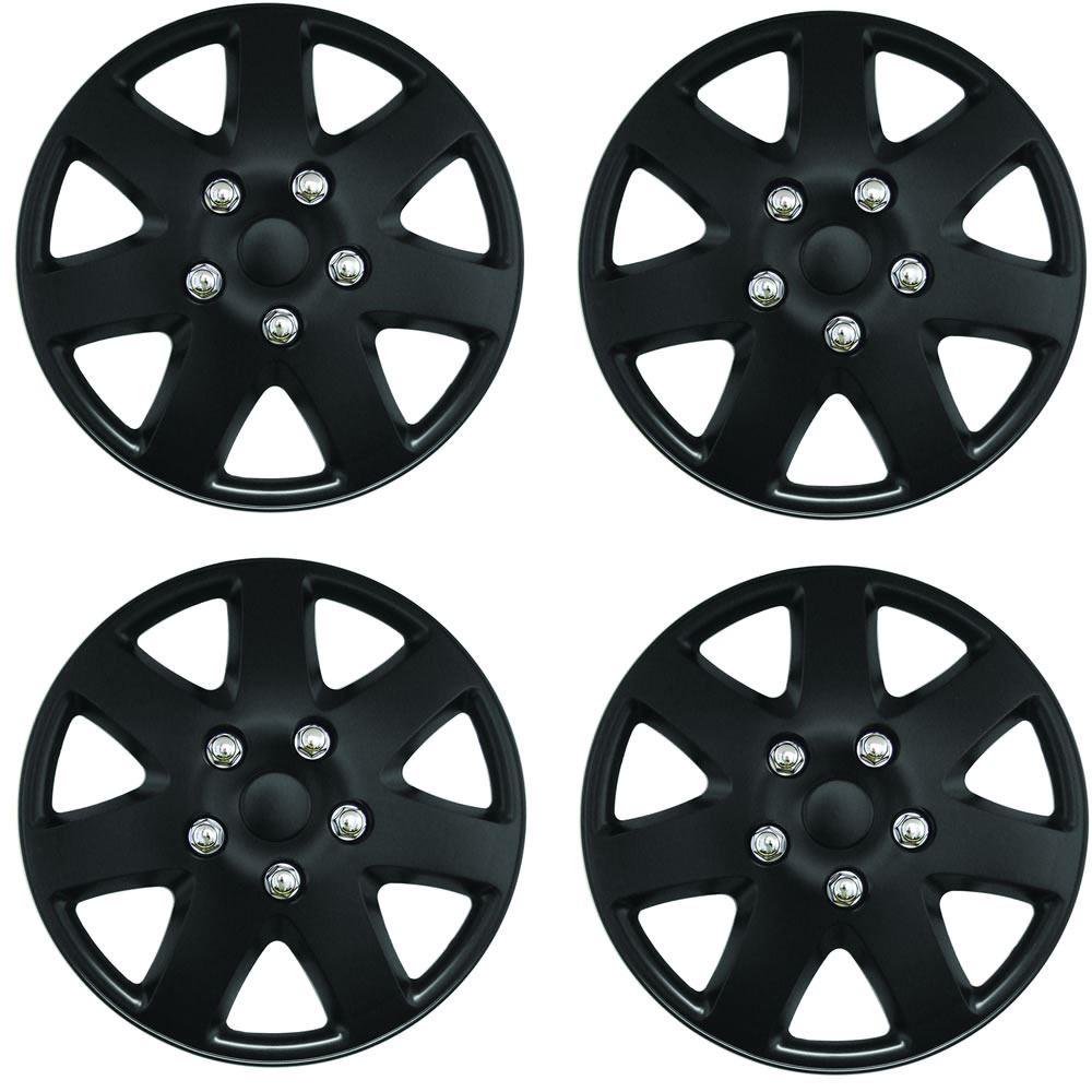 RENAULT CLIO Car Wheel Trims Hub Caps Plastic Covers Lighting 14 Black