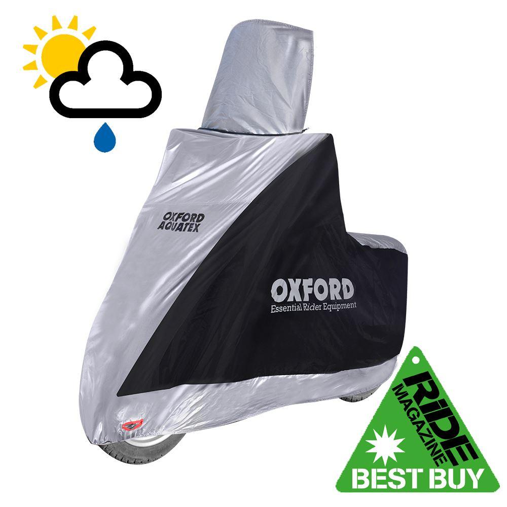 HONDA C90 Oxford Aquatex Waterproof Motorbike Silver Black Bike Cover