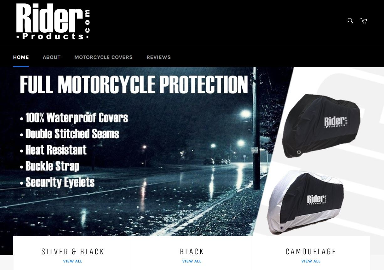 Wing Mirrors World SINNIS APACHE 125 Rider Products Waterproof Motorcycle Cover Motorbike Black