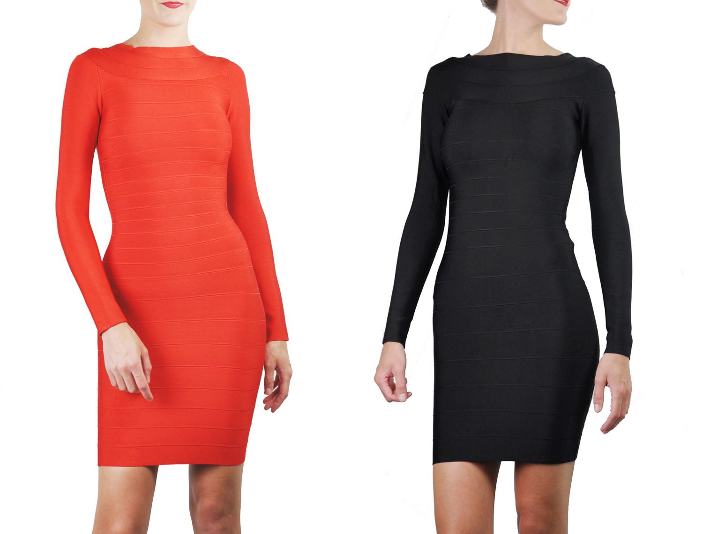 Quality Atchara Women/'s Celeb Bandage Deep V-Neck Bodycon Party Wear Mini Dress