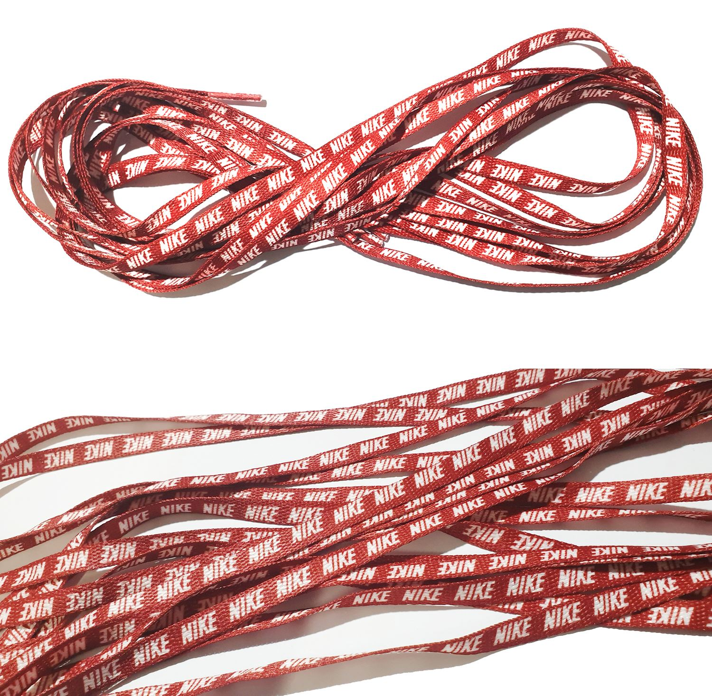 Shoe Laces (Red) With Nike Logo Unisex