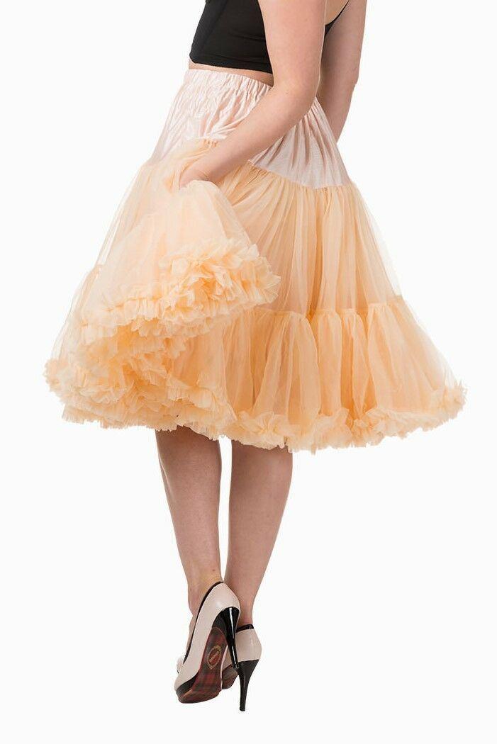 "BANNED 50s Rockabilly 20/"" SUPER SOFT Light Petticoat Under Skirt Red Bordeaux"