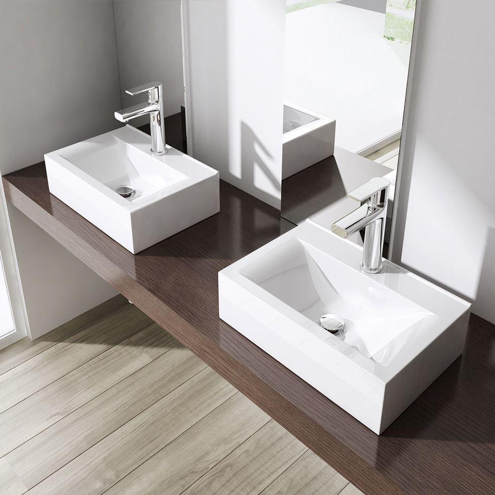 Bathroom Sink With Shelf: Durovin Bathroom Basin Sink Cube Cloakroom CounterTop