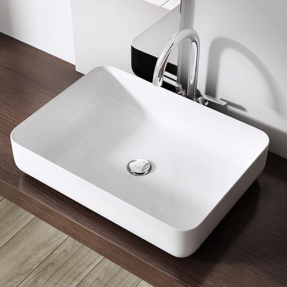 Bathroom Sink With Shelf: Durovin Bathroom High Quality Luxury Basin White Solid