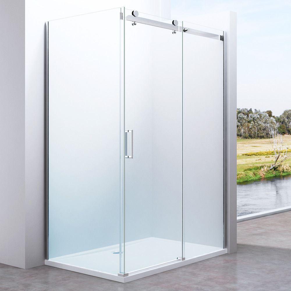 Frameless 1150x1000mm Sliding Safety Glass Door And Side Panel