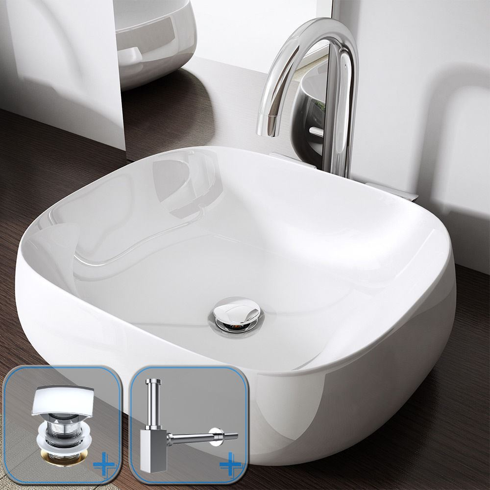 Bathroom Square Counter Top Mounted Hand Wash Basin Luxury Design ...
