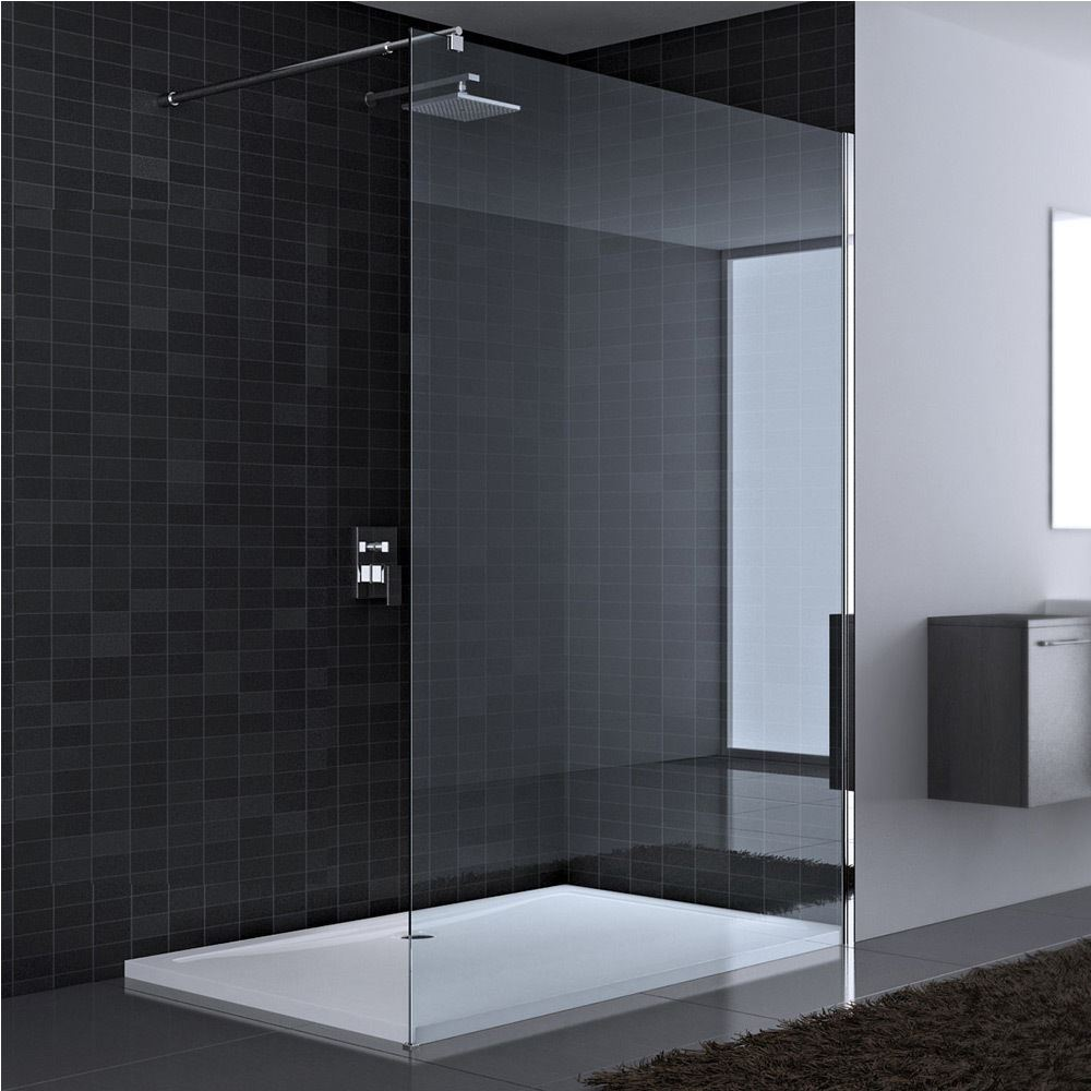 Walk in shower enclosure cubicle safety nano glass new screen panel easy clean ebay - Walk in glass shower enclosures ...