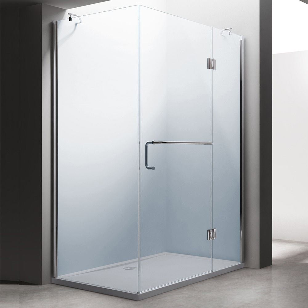 Frameless Hinged Shower Enclosure Hinges Door Glass Cubicle Screen ...