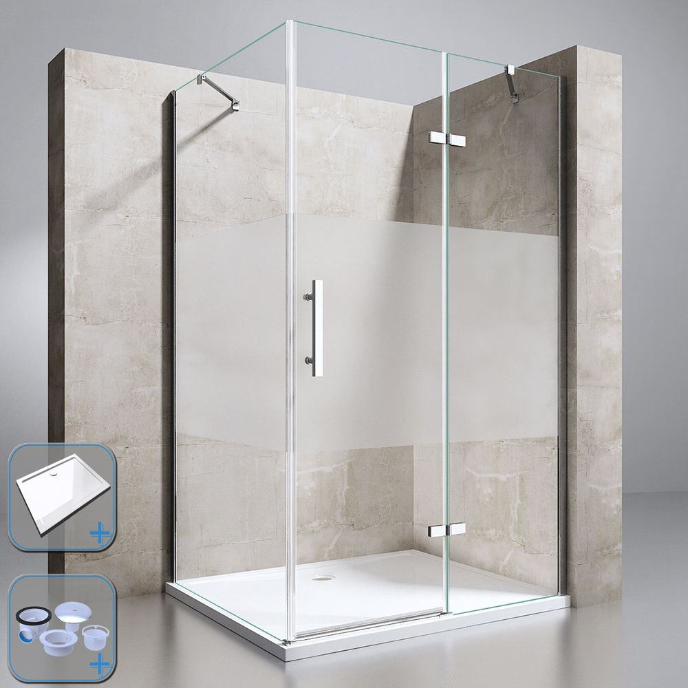 Frosted Hinged Glass Door Shower Enclosure Cubicle With 800x800mm