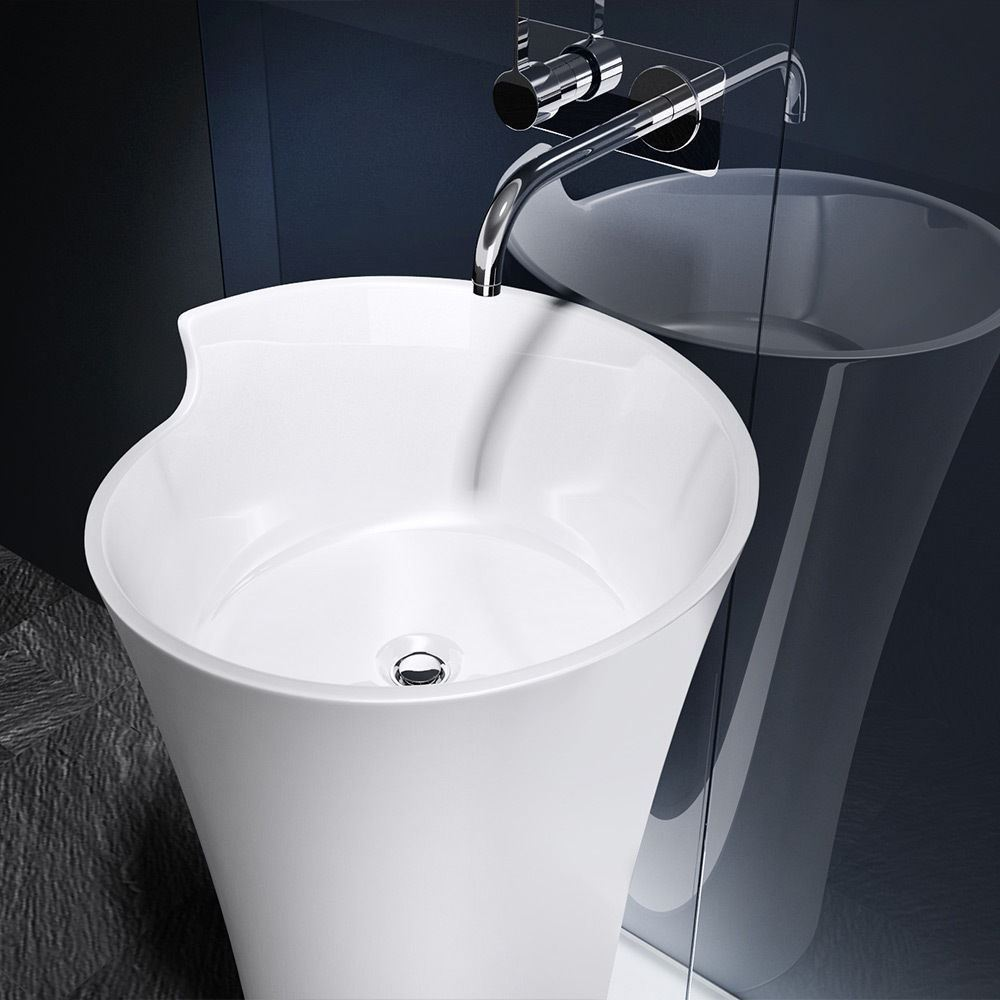 Durovin Bathrooms Wash Basin Stone Resin Freestanding