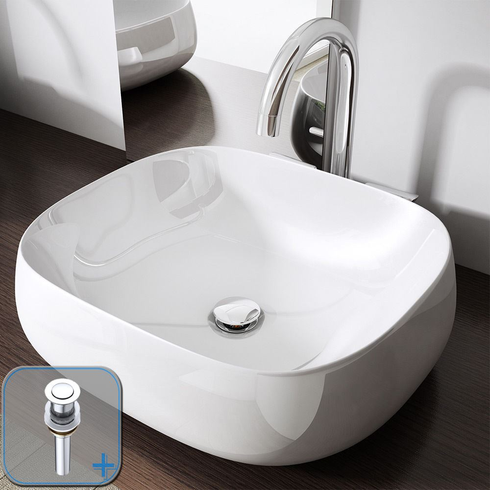 bathroom square counter top mounted hand wash basin luxury