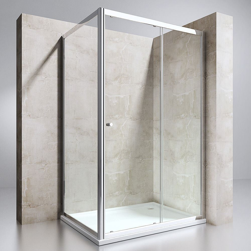 Durovin Sliding Glass Door And Side Panel Screen Shower Enclosure