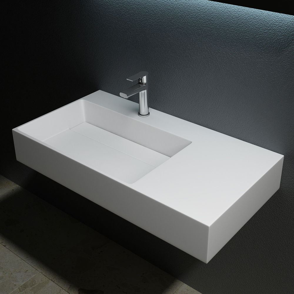 Counter Top Sinks: Durovin Bathroom Stone Wall Mountable Mount Counter Top