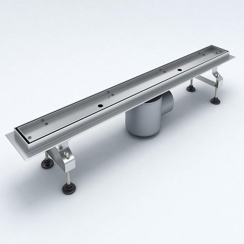 Bathroom Floor Drains Stainless Steel : Stainless steel floor linear walk in shower drain wetroom